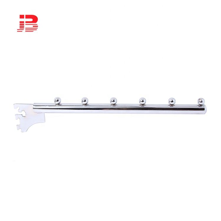 "Professionele fabrikant supermarkt EEN kolom metalen 19mm buis waterval <span class=keywords><strong>slatwall</strong></span> sliver display haak 250mm (<span class=keywords><strong>10</strong></span> "")"