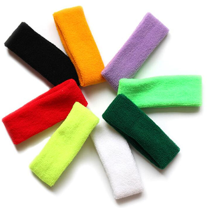 Top Selling Customized Logo Comfortable Sweat Hair Bands Running Sports Towel Headband
