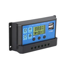ce rohs good price 2 USB dc 5A 2V panel 12 24volt solar charge controller pwm