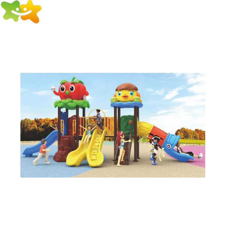 Popular Kids Plastic Outdoor Playground Amusement Equipment Outdoor Slides For Kids