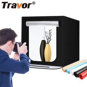 Photography mini room photo double led light cube travor tent photoshoot background kit photostudio set picture studio in a box