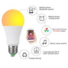 Wireless Controlled Bluetooth LED Smart Light Bulb B22 E27 Intelligent 20 Modes Music Voice control