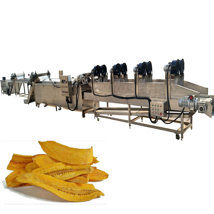 Automatic 200kgh plantain chips frying maker machine banana chips making production line