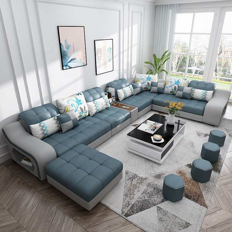 Foshan Factory living Room Sofa set technology fabric sofa fashion home furniture