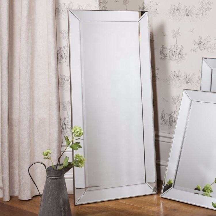 Large modern bevelled floor mirrors Full-length Mirror bedroom Dressing Mirror