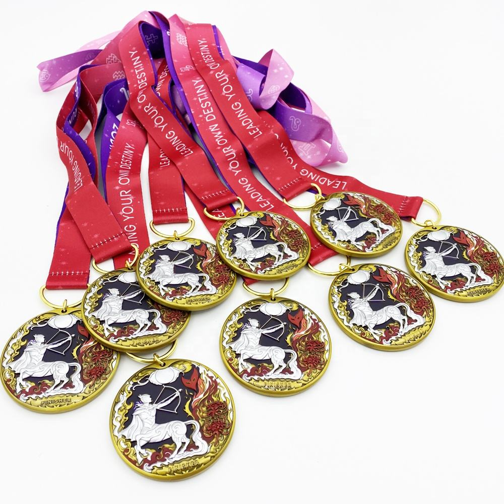 China Medal Supplier Custom 3D Award Running Marathon Finisher Metal Sports Medal with Ribbon