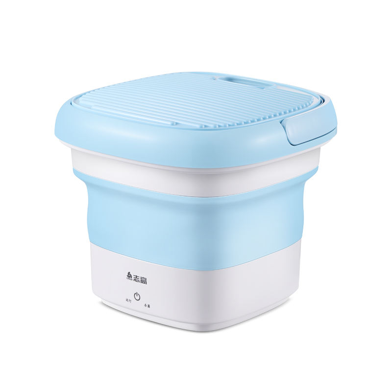 2020 Folding Bucket Ozone Disinfection Washer Mini Automatic Washing Machine For Underwear With Washboard