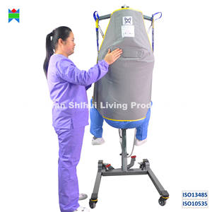 ISO13485 & ISO10535 disposable sling single patient transfer cross infection control durable loop and clip style