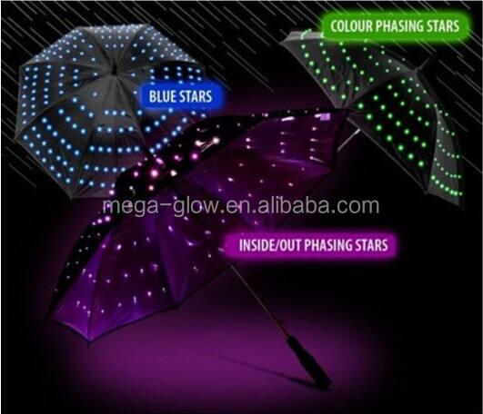 Средний размер, хит продаж, светодиодные лампочки звездочки, освещенный Зонтик для дождя