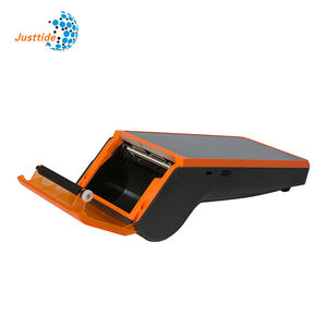 Justtide V7 Handheld Mobiele Geldautomaat Android Systeem Restaurant Automatische Wifi Pos Printer Pos Machine Met Printer