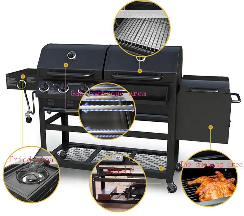 BBQ grill ,Portable Charcoal and Gas dual-use Outdoor Bbq Grill