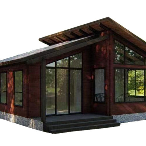 Economical prefab wooden house small russian wooden house