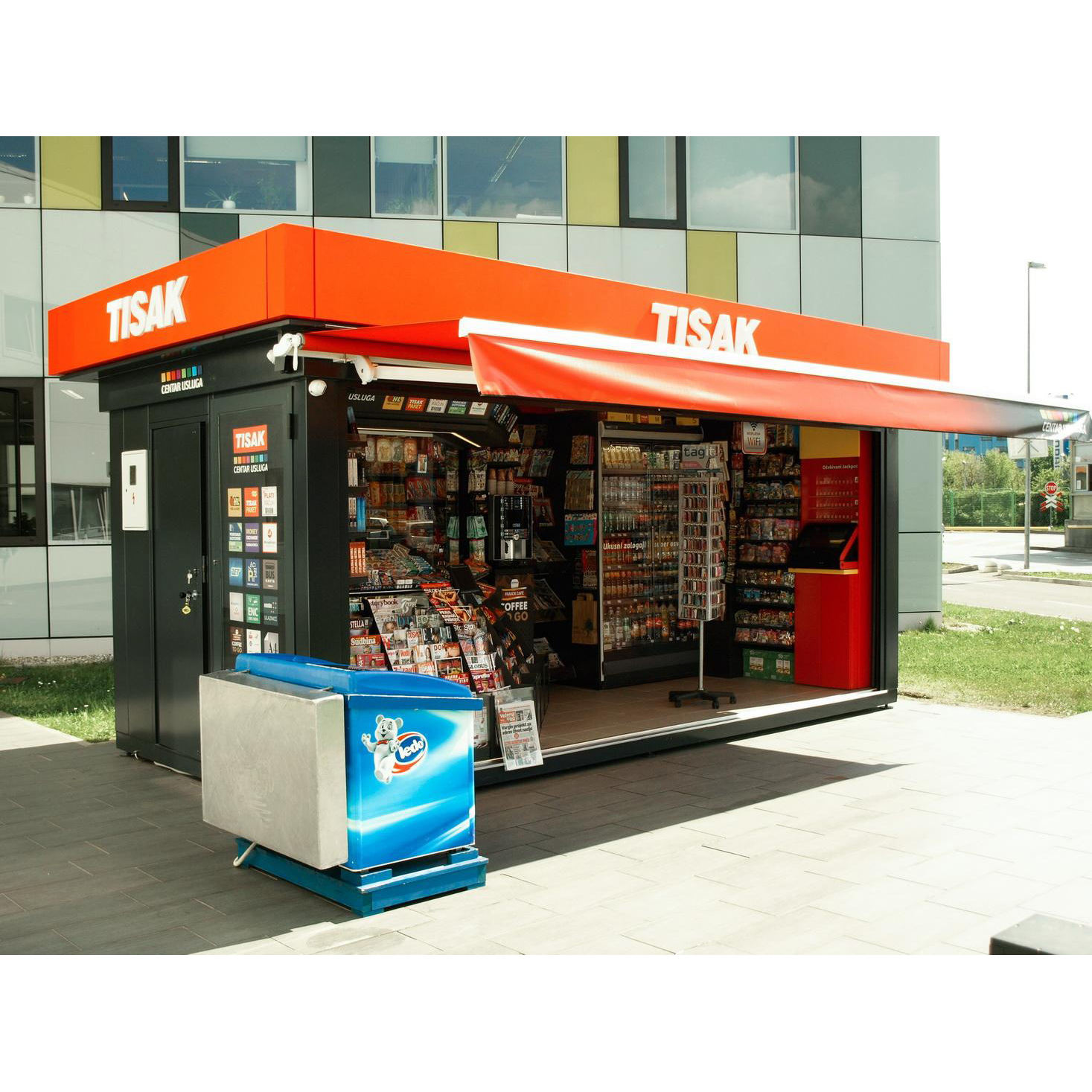 Prefab House Portable Kiosk News Stand Volunteer Service Post Publicity Station