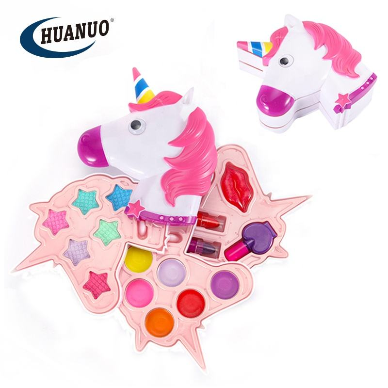 children private label play game cosmetic kit unicorn kids makeup sets