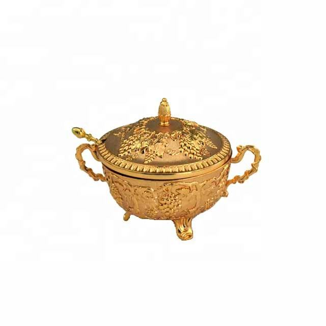 Saudi Arabia kitchen utensils zinc alloy silver round coffee sugar spice pot