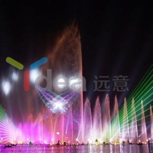 야외 프로그램 DMX Control magic 물 fountain 3d 떠 fountain 와 wave effects