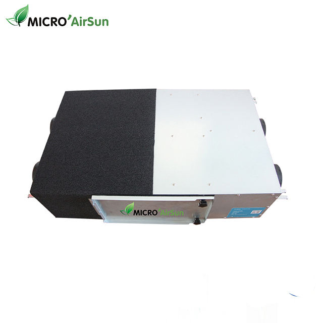 250 m3/h ventilation unit air recuperator with heat recovery unit for building air exchange