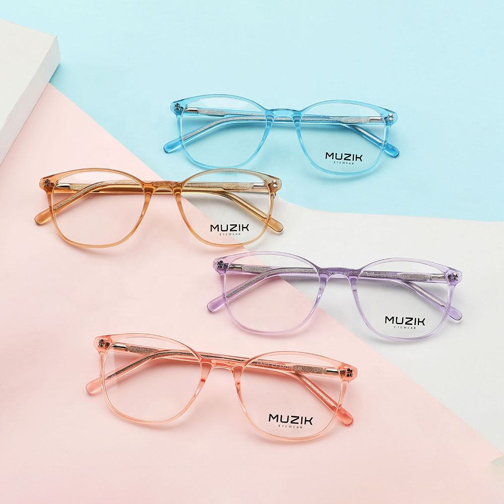 LA001 Custom Classical Fashion Computer Spectacles Anti Blue Light Blocking Eyeglasses Acetate Optical Glasses Frame