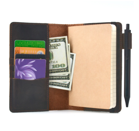 2020 New Arrivals Vintage Field Notes Cover Daily Carry Memo Book Genuine Leather Notebook Planner Card holder Pocket