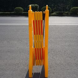 Yellow Plastic Mobile Expanding Safety Barrier For Traffic Control