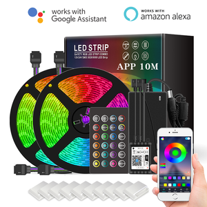 NEW Amazon Hot Sale Smart Wifi LED Strip Light 12V 5050 SMD 5M16.4ft RGB Works with Amazon Alexa Google Home