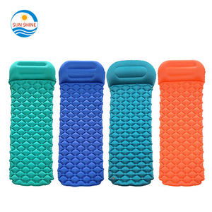 Indoor outdoor yoga ultralight pvc tpu folding air slapen pad opblaasbare draagbare reizen matras