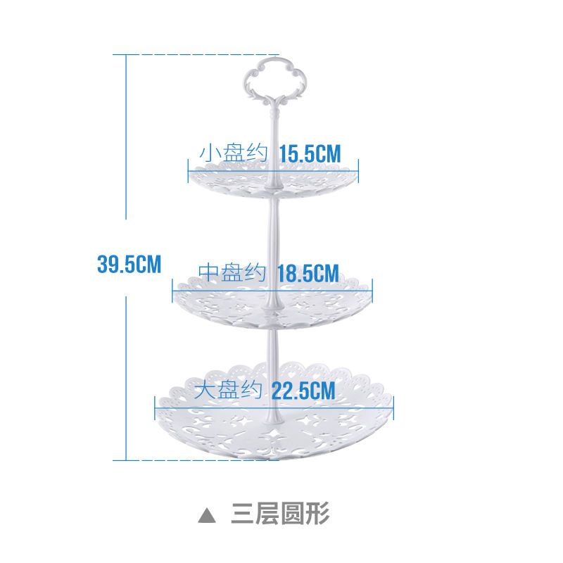 cheap 3 tiers white plastic disposable party cake stand wholesale