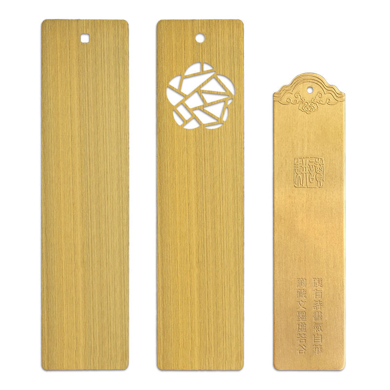 Rectangle Shape Custom Blank Bookmark Engraved Metal Bookmarks With Any Logo