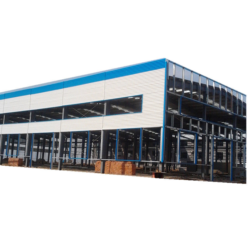Customized prefabricated steel structure building low cost office hotel factory workshop warehouse steel building