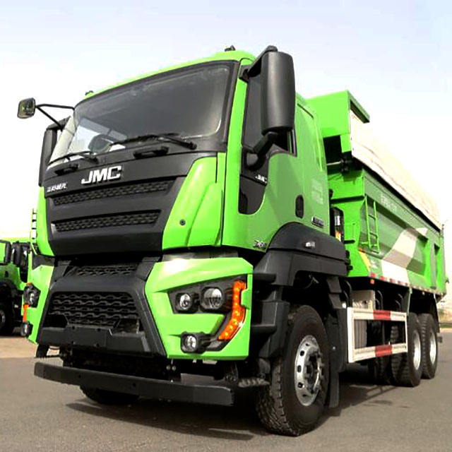 Dump truck tipper truck 19 m3 cargo box 40T loading capacity luxury cabin tarpaulin with best price