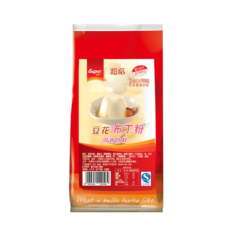 Bean blossom pudding powder can be used in milk tea dessert baking high quality pudding powder