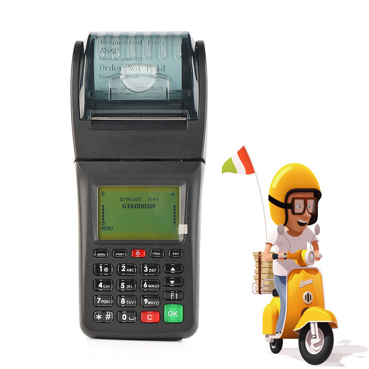 Restaurant Wireless Portable WIFI Online Order System Handheld POS With Printer
