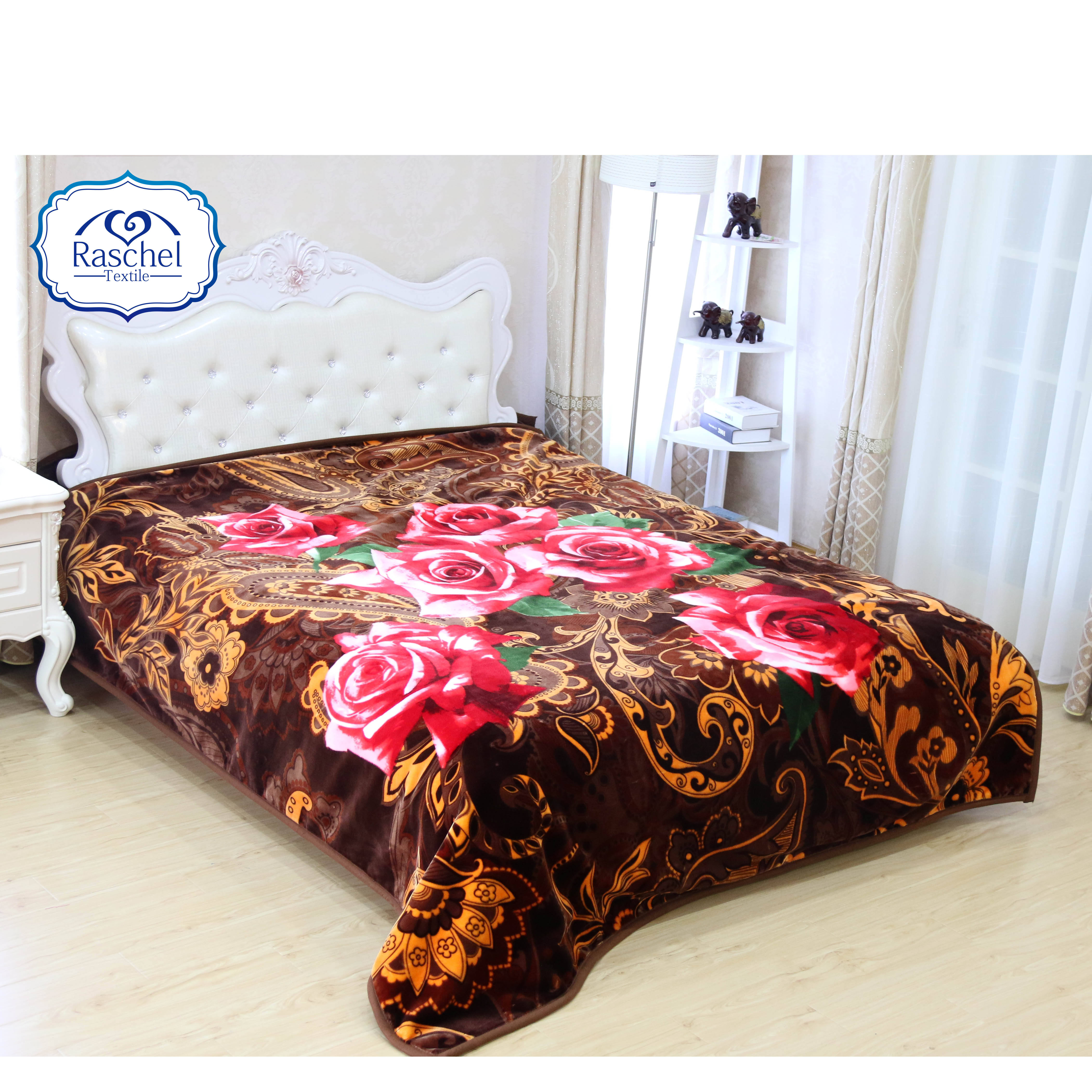 100% Polyester Korean Style Embossed Rashel Plush Blanket