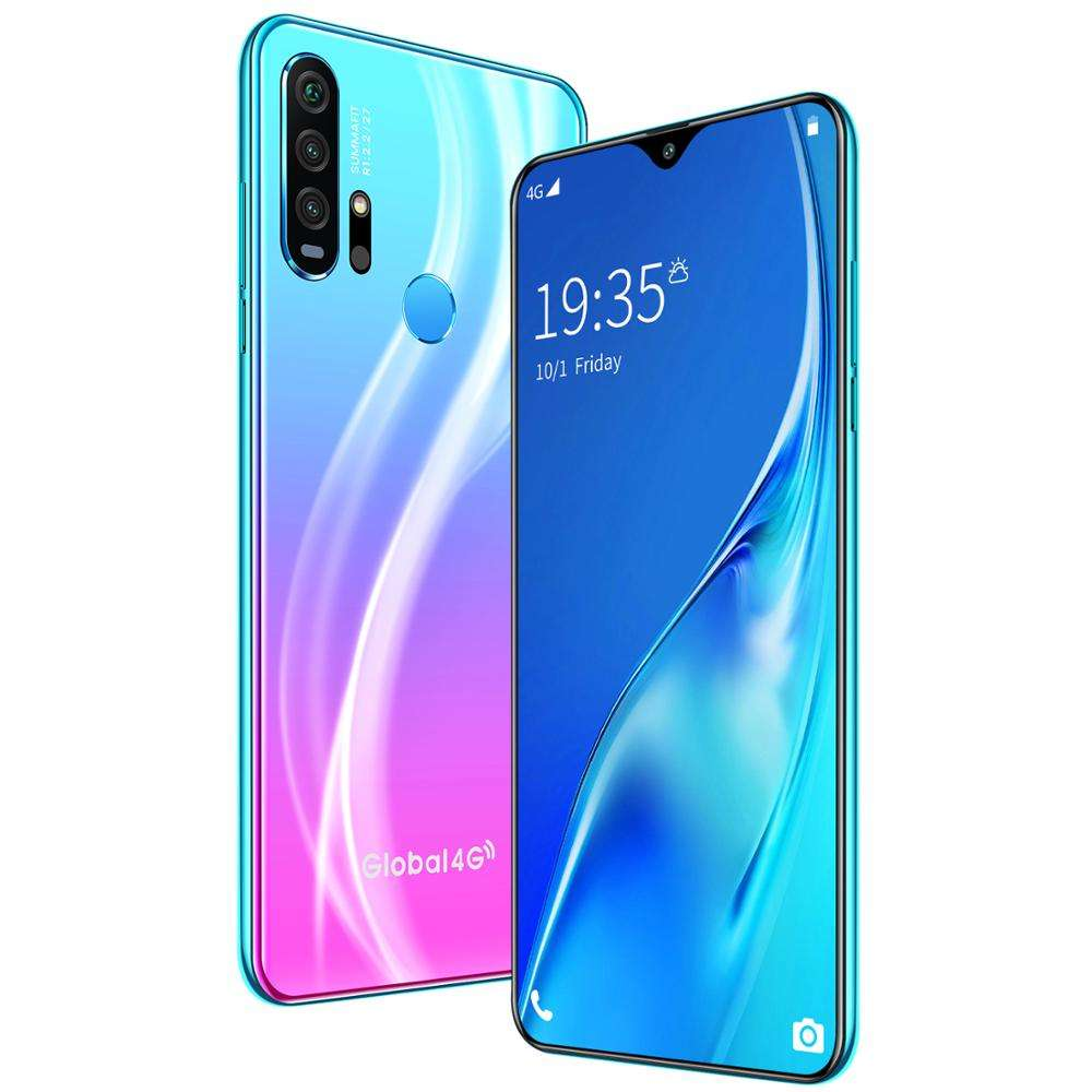 Unlock r30 pro 6.3lnch real 4G network 4gb ram 64gb rom Smartphone face recognition fingerprint full Screen Mobile Phone
