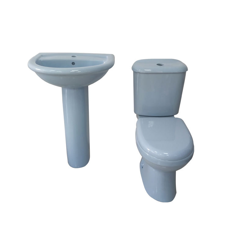 Chinese Ceramic Bathroom Sanitary Ware Tolet / Wash Down Two Pieces toilet Economic ceramic toilet bathroom cheap wc