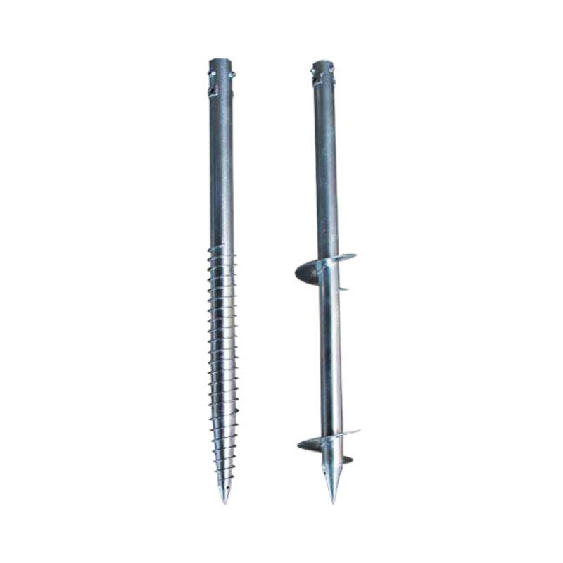 Japan OEM High-Strength Galvanized Steel Ground Screw Pole Anchor
