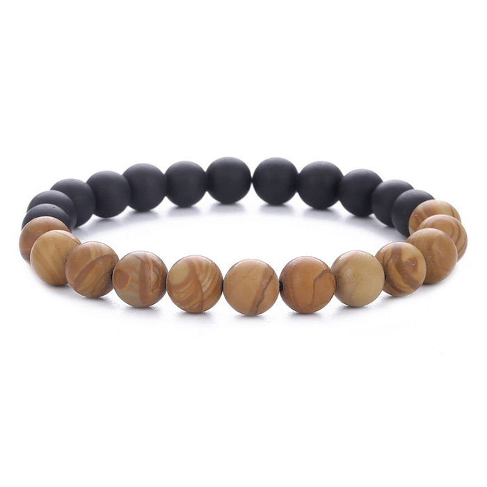 dropshipping handmade diy stock rosary wood and simple matte frosted buddha bead bracelet