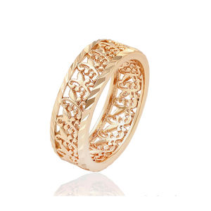 16400 xuping 2020 fashion simple no stone designs 18 karat gold Openwork beautiful pattern ring