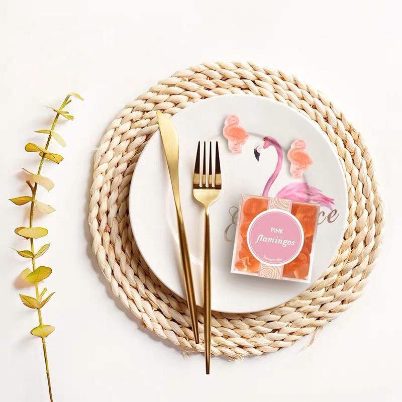 Eco Friendly Woven Round Grass Nature Fiber Corn Husk Colour Craft Tableware Cane Placemat