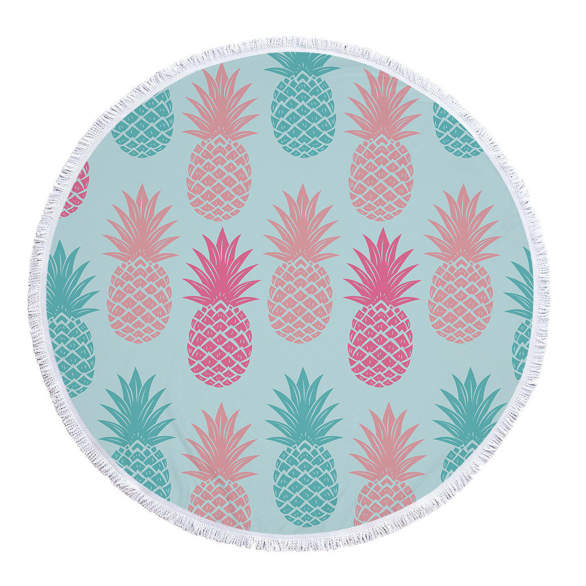 Popular Custom Comfortable High Quality Digital Printed Pineapple Large Bath Beach Towel For Adults