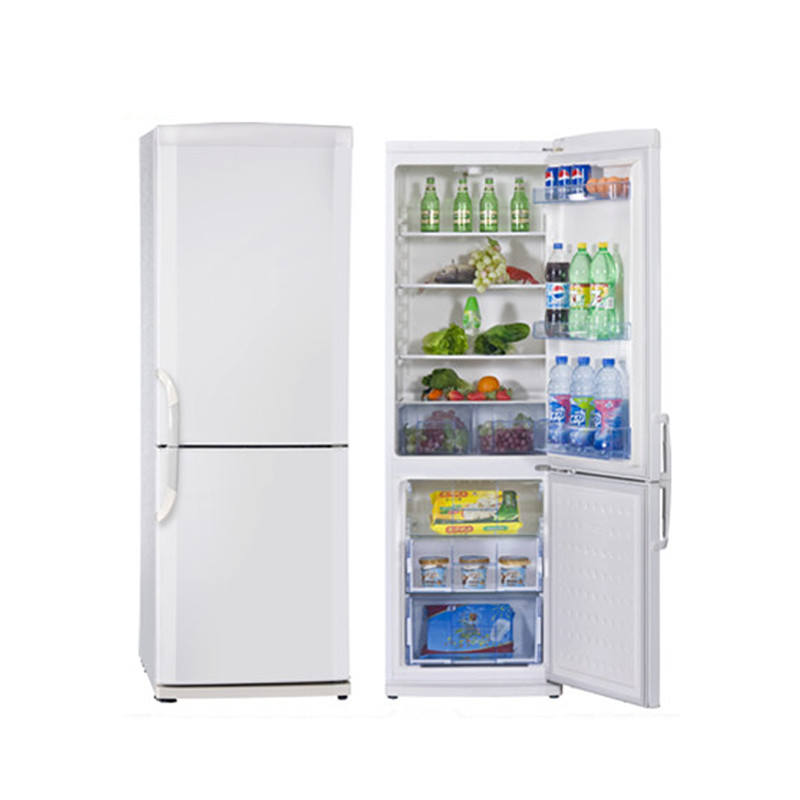 370L outside condenser double door home use refrigerator