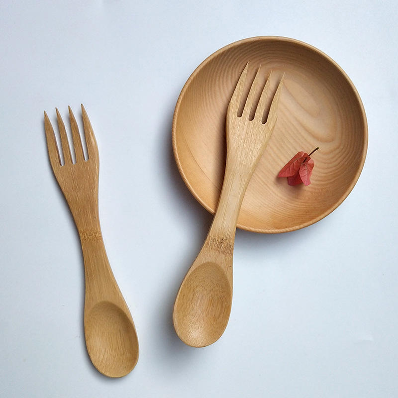 Spoons Flatware Type and Eco-Friendly Feature Spork Bamboo Kids Utensils