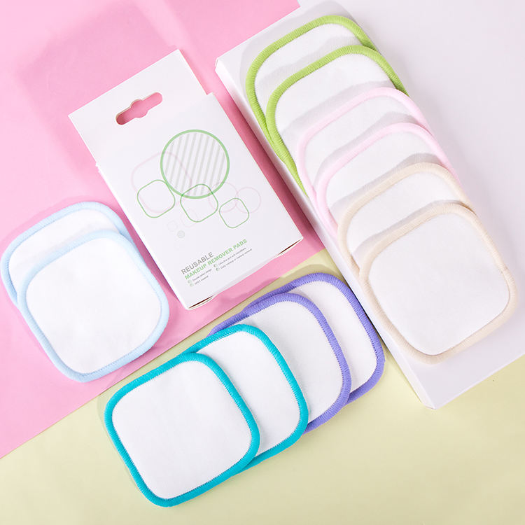 2020 New Arrival Black Mini Bamboo Face Cosmetic Reusable Cotton Pad For Travelling