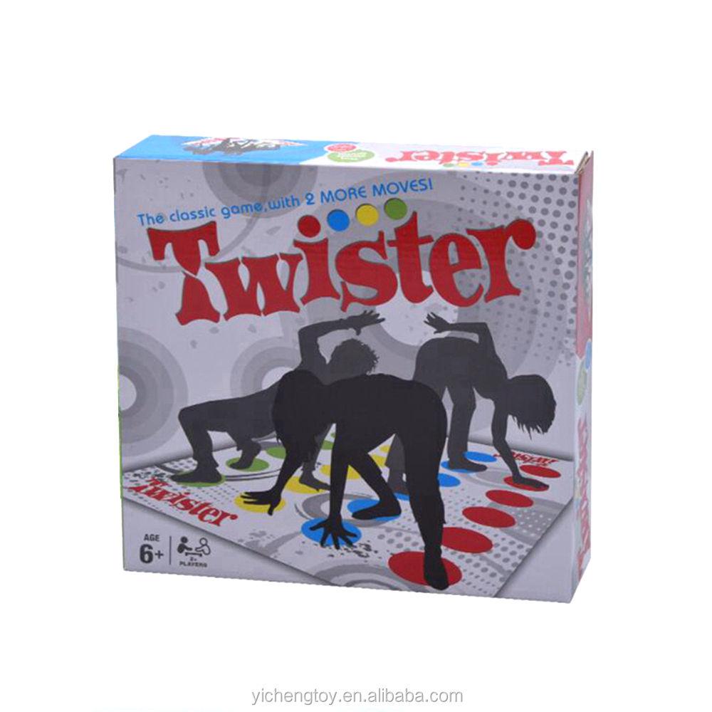 Jeu Twister amusant pas cher garçons filles se nouent plancher jeu de société sport en salle jeu de fête