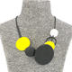 Low Price Low Price Chic Rock Black Yellow Round Fashion Necklace For Women