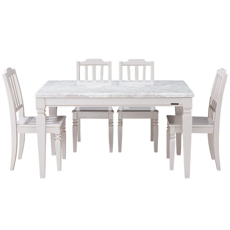 American country style design modern dining table set dining room furniture table and chairs for dining room
