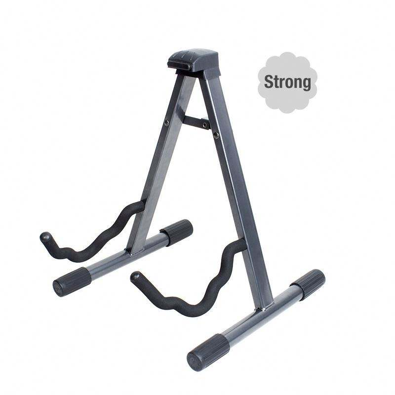 wholesaler high quality metal A frame electric and acoustic guitar stand for guitar
