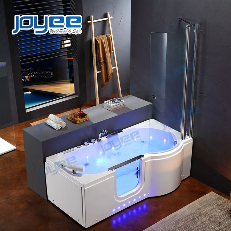 JOYEE lows walk in tub shower combo single handicap small portable bathtub for old people and disable people