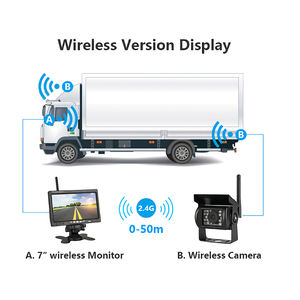 vehicle wireless car reach auto rear view side mount backup reverse back camera system for truck 12v camera trailer kit with lcd
