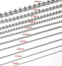Wholesale Custom Ball Chain Bead Golden Silver with Connector Iron Cheap Bead Ball Chain
